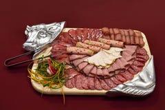 Gastronomische worstschotel Royalty-vrije Stock Fotografie