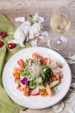 Gastronomische salade, hoogste mening Stock Afbeelding