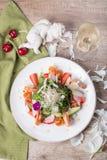 Gastronomische salade, hoogste mening Stock Afbeeldingen