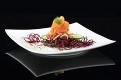 Gastronomische schotel stock afbeelding