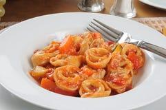 Gastronomische tortellini royalty-vrije stock afbeelding