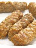 Gastronomische vleesworsten Stock Foto's