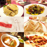 Gastronomische voedselcollage Royalty-vrije Stock Foto