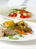 Gastronomische Voorgerecht & Salade stock afbeelding