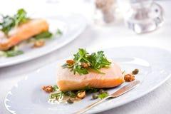 Gastronomische zalm stock afbeeldingen