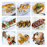 Gastronomy collage Stock Photography