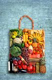 Gastronomy handbag Royalty Free Stock Photography