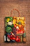 Gastronomy handbag Royalty Free Stock Photo