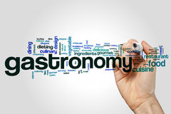 Gastronomy word cloud Stock Photography
