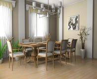 Gaststätte ein Raum im Haus Stockbild