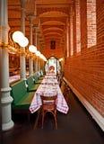 Gaststätte im Marienburg Schloss stockfotografie