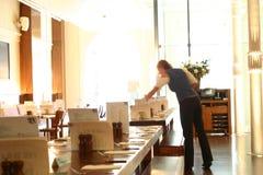 Gaststätte-Innenraum lizenzfreies stockfoto