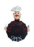 Gaststätte ist geöffnetes Zeichen Stockfotos