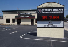 Gaststätte Jimmy-Johns lizenzfreies stockfoto
