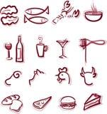 Gaststätte-Menü Stock Abbildung