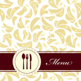 Gaststätte-Menü Lizenzfreie Stockbilder