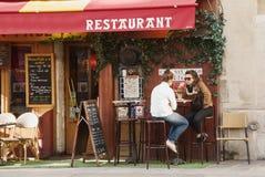 Gaststätte in Paris Stockbild