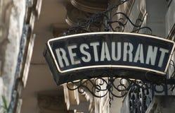 Gaststätte in Paris, Frankreich Stockfotografie