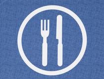 Gaststätte-Symbol Stockfoto
