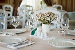 Gaststätte-Tabelle Lizenzfreies Stockbild