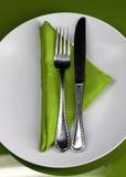 Gaststätte-Tabelle Stockfoto