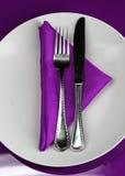 Gaststätte-Tabelle Stockbild