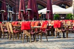 Gaststätte-Terrasse Lizenzfreie Stockbilder