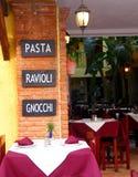 Gaststätte und Stab Stockbild