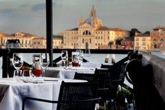 Gaststätte in Venedig Stockbild