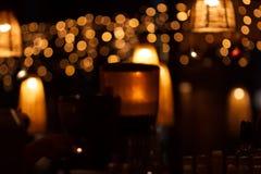 Gaststätteinnenraum nachts Lizenzfreies Stockfoto