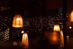 Gaststätteinnenraum nachts Lizenzfreie Stockbilder
