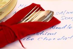 Gaststättemenü Lizenzfreies Stockbild