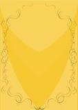 Gaststättemenü, gelb Stockfoto