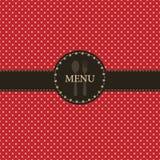 Gaststättemenüauslegung Lizenzfreie Stockbilder