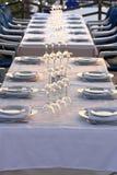 Gaststättetabelle Stockbild