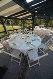 Gaststättetabelle in der Zeremonie Lizenzfreies Stockfoto