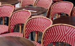 Gaststätteterrasse in Paris Lizenzfreies Stockbild