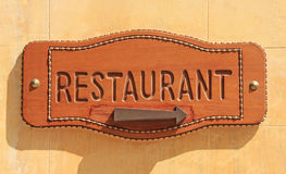 Gaststättezeichen Lizenzfreies Stockfoto