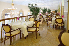 Gaststätte am Balkon im Hotel Ukraine Stockfotografie
