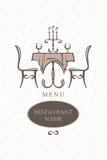 Gaststättemenüauslegung Lizenzfreies Stockbild