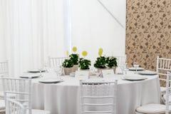 Gasttabelle an der Zeremonie Stockfotos