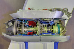 Gasturbinenmotor Stockfotografie