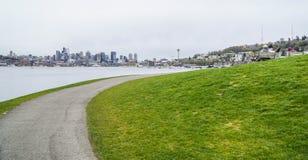 Gasverket parkerar och sjöunion i Seattle - SEATTLE/WASHINGTON - APRIL 11, 2017 Arkivbilder