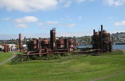 Gasworks Park at Seattle Washington Royalty Free Stock Photography