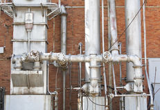Gasworks Pipes Royalty Free Stock Images