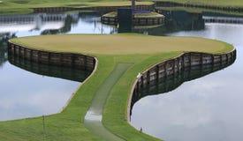 Gat 17, TPC Sawgrass golf, Ponte Vedra, FL Royalty-vrije Stock Foto