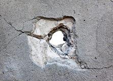 Gat in het beton Royalty-vrije Stock Fotografie