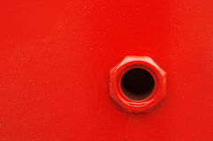 Gat op schip om benzine te vullen Royalty-vrije Stock Foto's