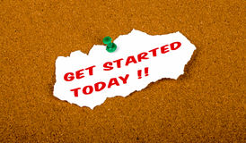 Gat started today Royalty Free Stock Photos