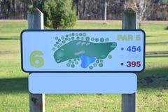 Gat Zes van de golfcursus Kaartlay-out Royalty-vrije Stock Foto